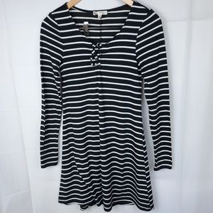 Dresses & Skirts - About a girl  Womens Black White Striped Dress